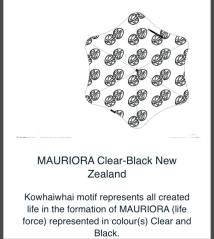 MAURIORA Clear-Black New Zealand